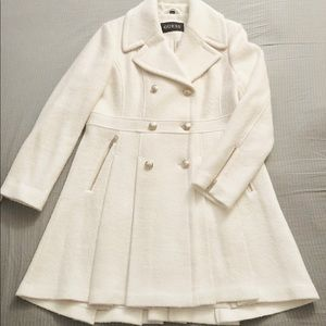 GUESS Double-Breasted Skirted Peacoat